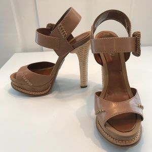 Boutique 9 Sandals with Wicker Weave Heels